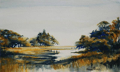 Painting - Autumn Marsh by Sharon Sorrels