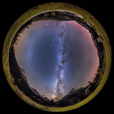 Autumn Milky Way Panorama At Red Rock Art Print