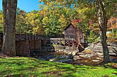 Antique Photograph - Autumn Mill by Steve Harrington