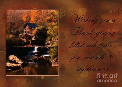 Digital Art - Autumn Mill Thanksgiving by JH Designs