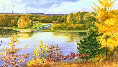 Painting - Autumn Mississippi by Phyllis Martino