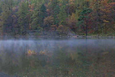 Photograph - Autumn Mist Buttermere by Nick Atkin