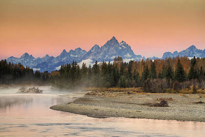 Teton Photograph - Autumn Mist by Mark Kiver