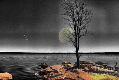 Autumn Moon Print by Betty LaRue
