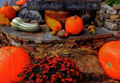 Autumn Moonshine At Old Smoky Distillery Print by Dan Sproul
