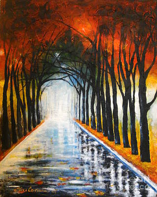 Autumn Morning Art Print by Elena  Constantinescu