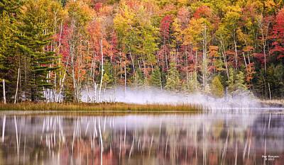 Photograph - Autumn Morning Fog by Peg Runyan