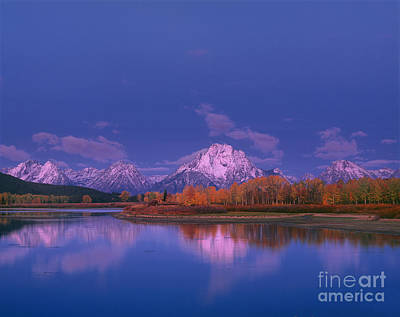 Photograph - Autumn Morning Grand Tetons National Park Wyoming by Dave Welling