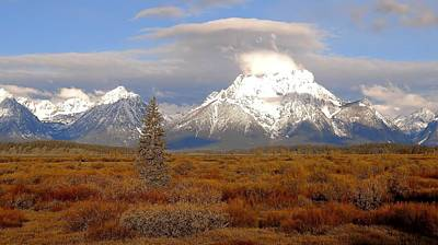 The Tetons Photograph - Autumn Morning In The Tetons by Dan Sproul