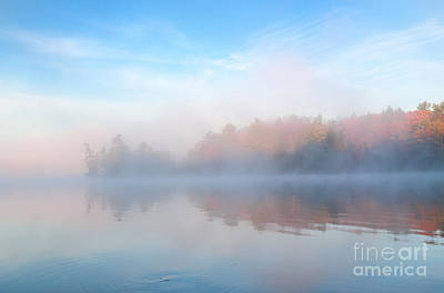 Photograph - Autumn Morning Mist by Charline Xia