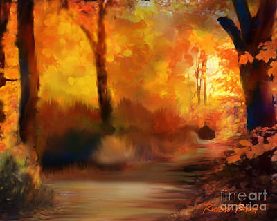 Digital Art - Autumn Morning by Richard Beard