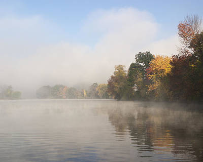 Photograph - Autumn Morning River Fog by Gregory Scott