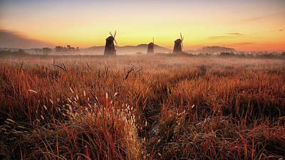 Autumn Field Wall Art - Photograph - Autumn Morning by Tiger Seo