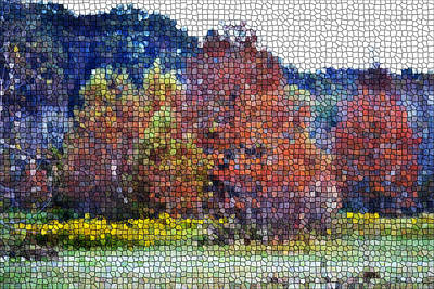 Digital Art - Autumn Mosaic by rd Erickson