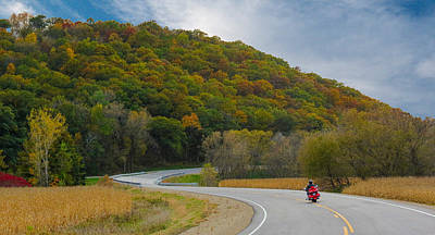 Photograph - Autumn Motorcycle Rider / Orange by Patti Deters