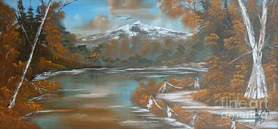 Landscape Painting - Autumn Mountain 2 by Collin A Clarke