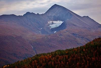 Autumn Mountain Glow Art Print