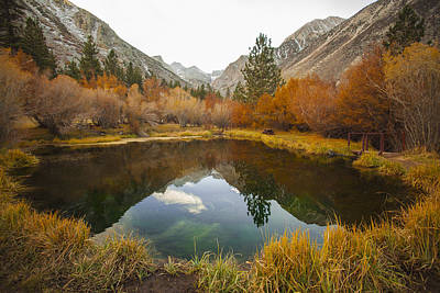 Photograph - Autumn Mountain Mirror Pond Original Fine Art Photography by Jerry Cowart