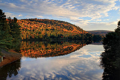 Photograph - Autumn Mountain Reflection by Pierre Leclerc Photography