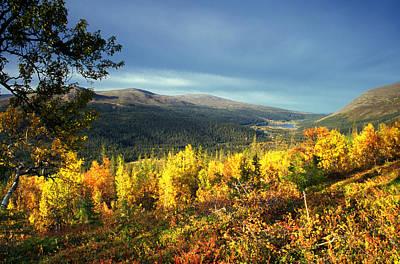 Thomas Kinkade - Autumn Mountian by Sasas Photography