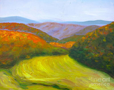 Painting - Autumn Mowing by Kathryn Barry