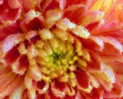 Photograph - Autumn Mum Impressionism by Heidi Smith