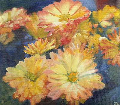 Autumn Mums Art Print by Jennifer Lycke