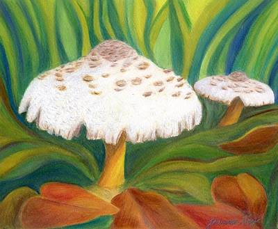 Painting - Autumn Mushrooms by Jeanne Kay Juhos