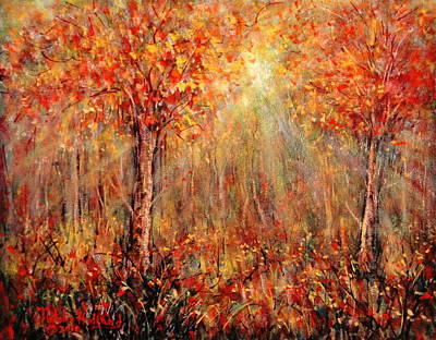 Brilliant Painting - Autumn by Natalie Holland