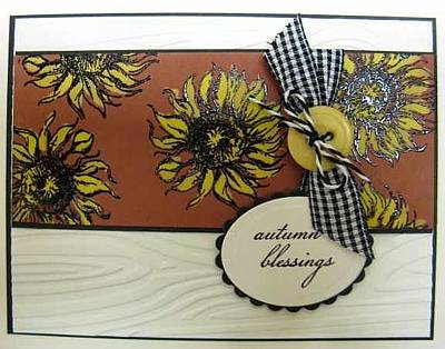 Mixed Media - Autumn Note Card by Cheryl Depler