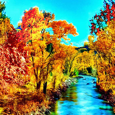 Lovely Lavender - Autumn Oak Creek Sedona Arizona by Bob and Nadine Johnston