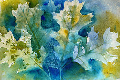 Painting - Autumn Oak Leaves by Janet Zeh