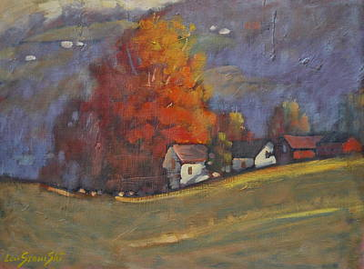 Berkshire Hills Painting - Autumn On Airyhill by Len Stomski