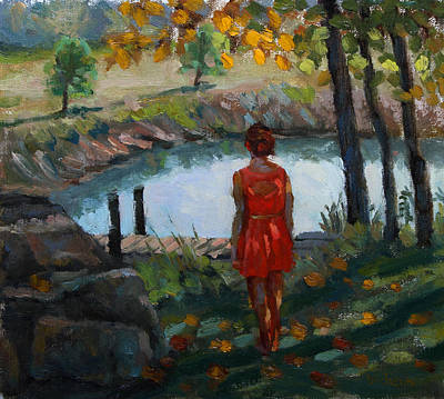 Painting - Autumn On Jug Creek by Jeff Dickson
