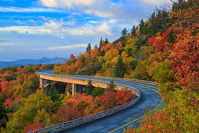 Autumn On Linn Cove Viaduct  Art Print by Jared Kay
