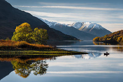 Snow Capped Photograph - Autumn On Loch Leven by Dave Bowman
