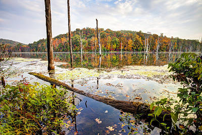 Photograph - Autumn On Monksville Reservoir - Long Pond Ironworks by Gary Heller