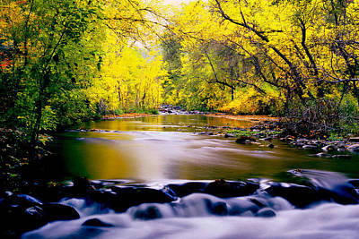 Photograph - Autumn On Oak Creek by Frank Houck