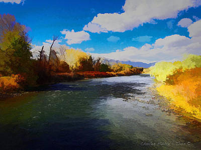 Digital Art - Autumn On The Arkansas by Charles Muhle