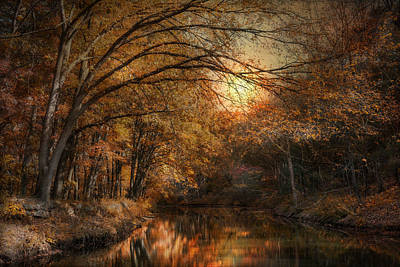 Photograph - Autumn On The Blackstone by Robin-Lee Vieira