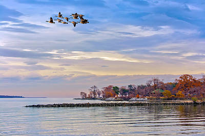 Autumn On The Chesapeake Bay Art Print