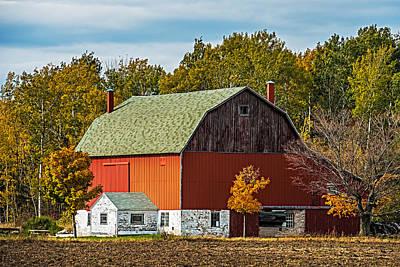 Vintage Quilt Photograph - Autumn On The Farm by Paul Freidlund