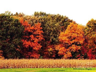 Autumn On The Farn Art Print by EGiclee Digital Prints