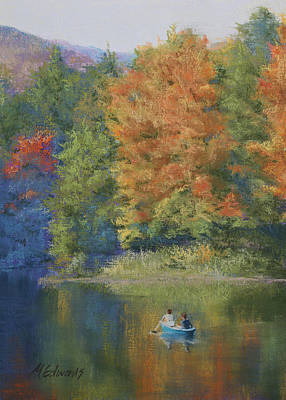 Autumn On The Lake Art Print by Marna Edwards Flavell