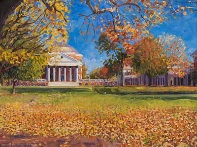 Sunny Day Painting - Autumn On The Lawn by Edward Thomas