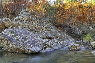 Photograph - Autumn On The Little Missouri - Arkansas - Fall  by Jason Politte