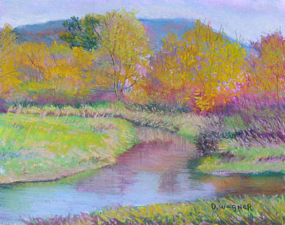 Painting - Autumn On The Marsh by Denise Wagner