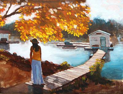 Autumn On The Mississippi Art Print