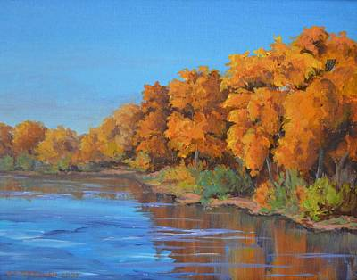 Grande Painting - Autumn On The Rio Grande by Celeste Drewien