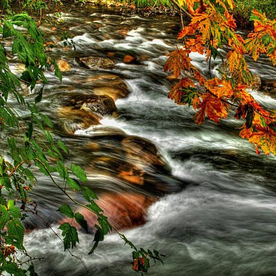 Autumn On The River Print by Randy Hall